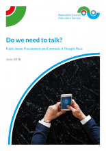 Do we need to talk? Report cover image